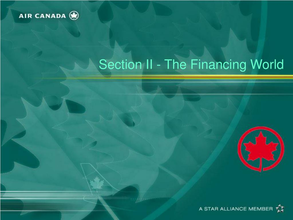 Section II - The Financing World