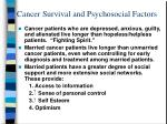 cancer survival and psychosocial factors
