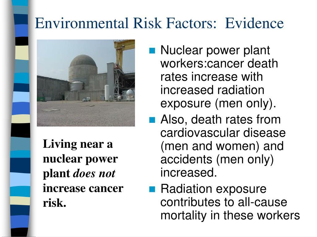 Environmental Risk Factors:  Evidence