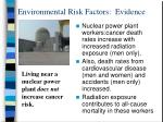 environmental risk factors evidence