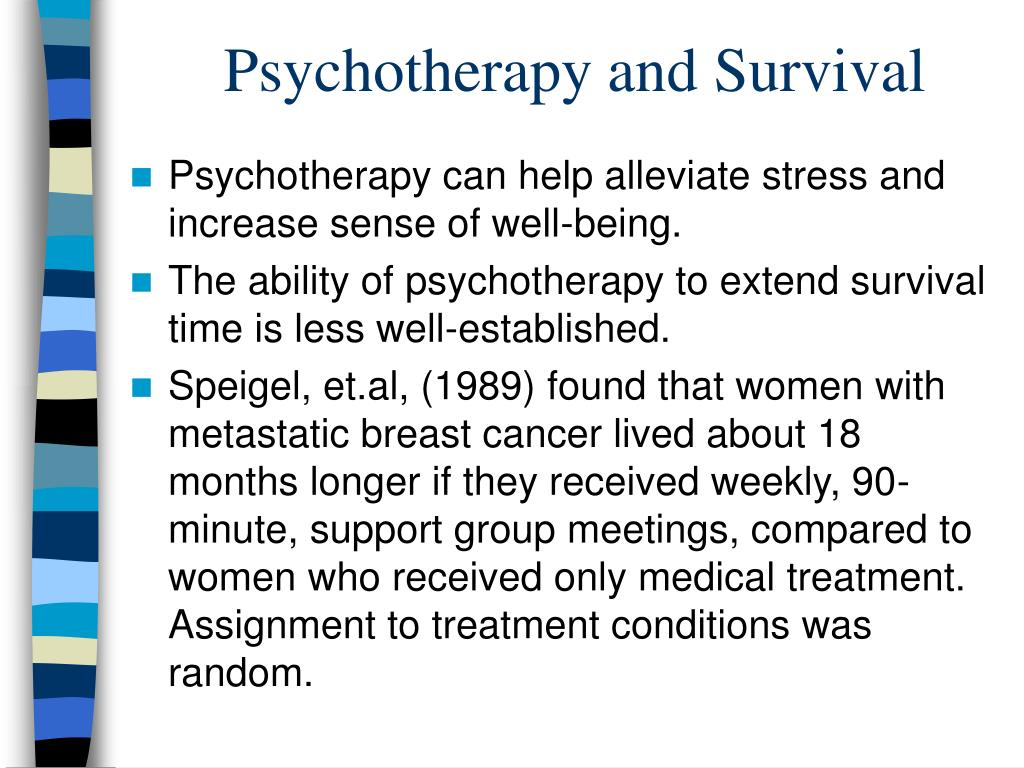 Psychotherapy and Survival