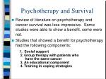 psychotherapy and survival50
