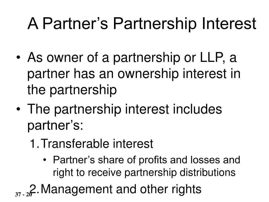 A Partner's Partnership Interest