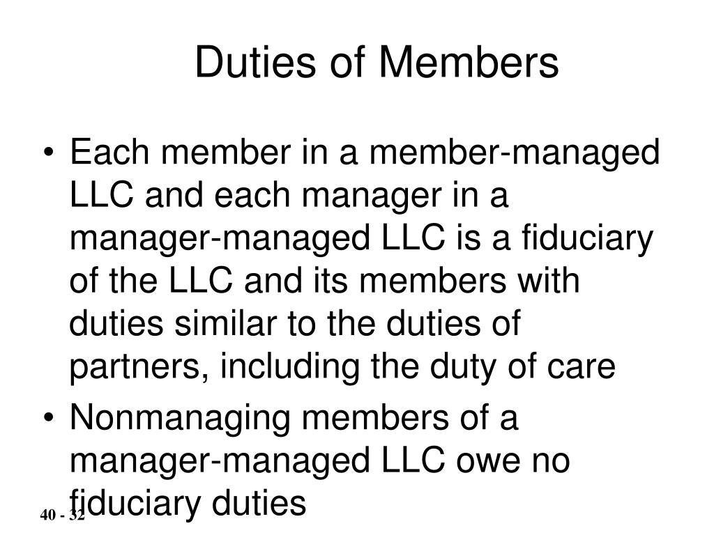 Duties of Members