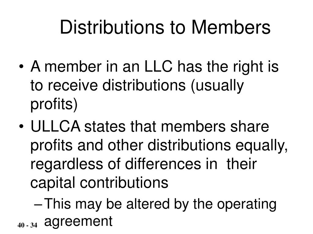 Distributions to Members