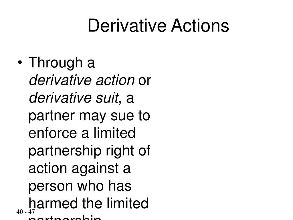 Derivative Actions