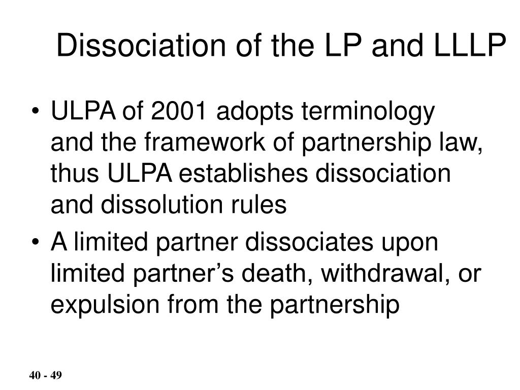 Dissociation of the LP and LLLP