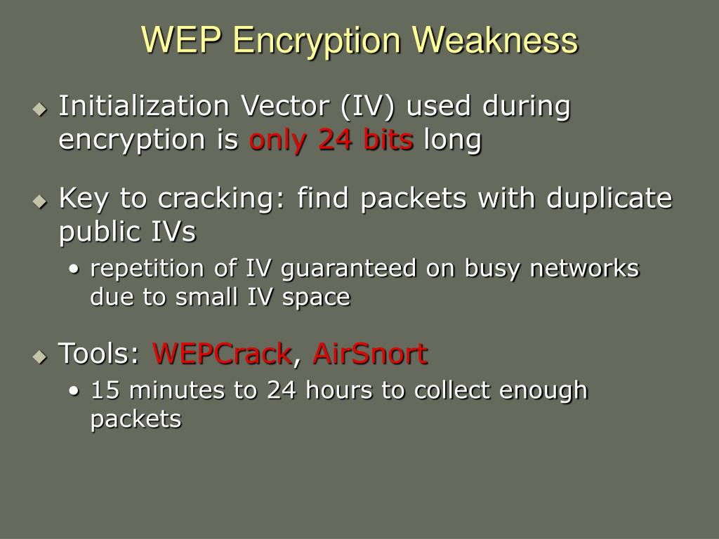 WEP Encryption Weakness