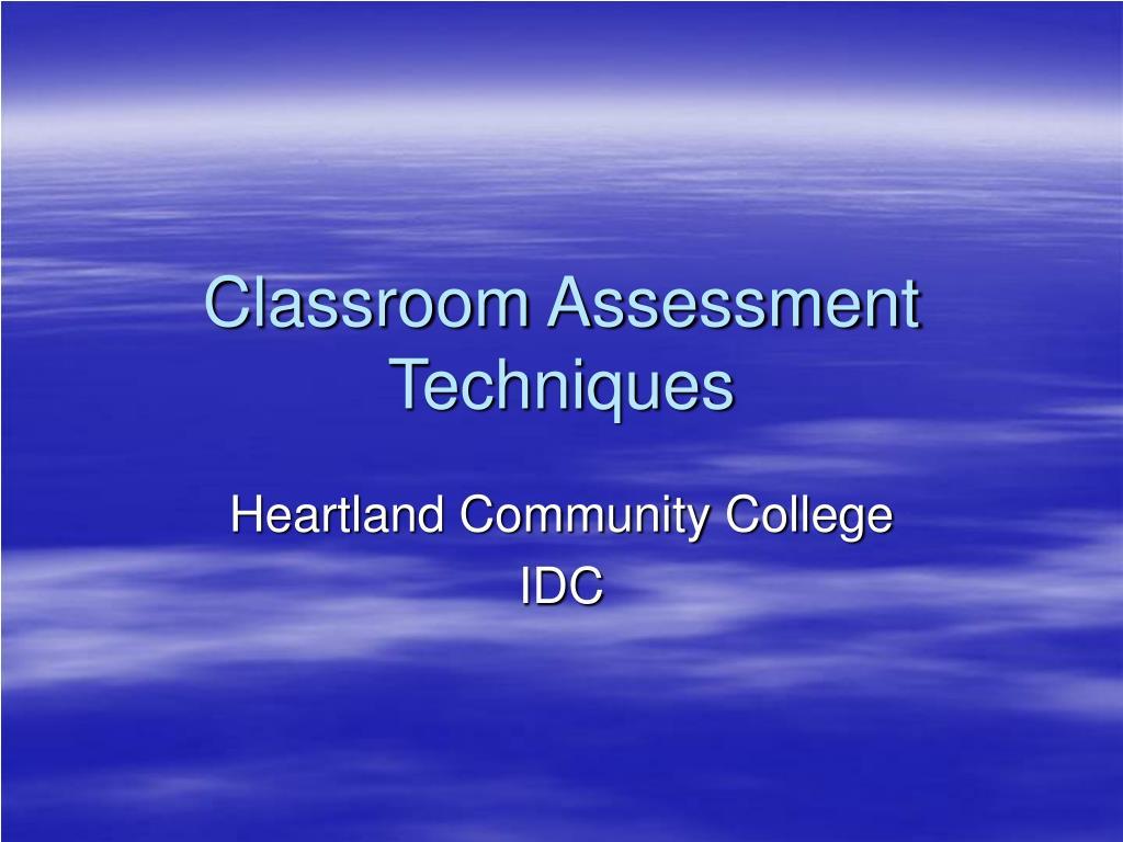 classroom assessment techniques l.