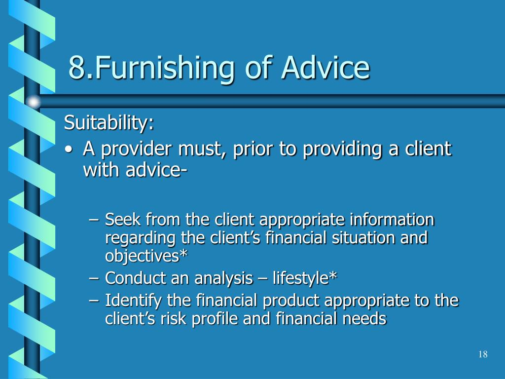 8.Furnishing of Advice