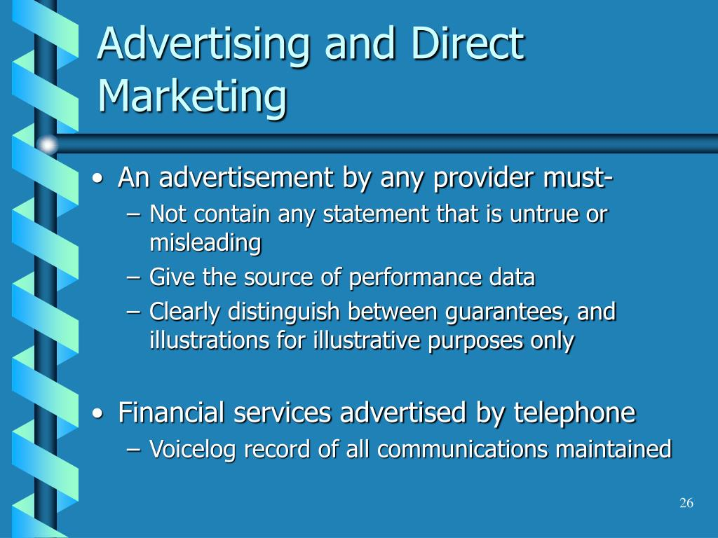Advertising and Direct Marketing