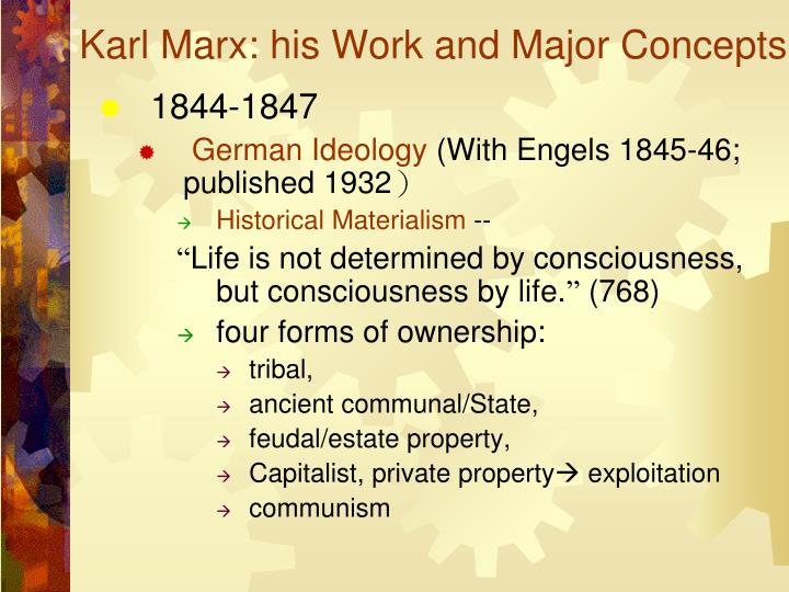 a critical analysis of marxs german ideology The german ideology was the first work in which karl marx and friedrich engels sketched out the framework for understanding history and society that was to guide their theoretical and practical activities for the rest of their lives the book was written in 1845—46 when the authors were in their mid-twenties.