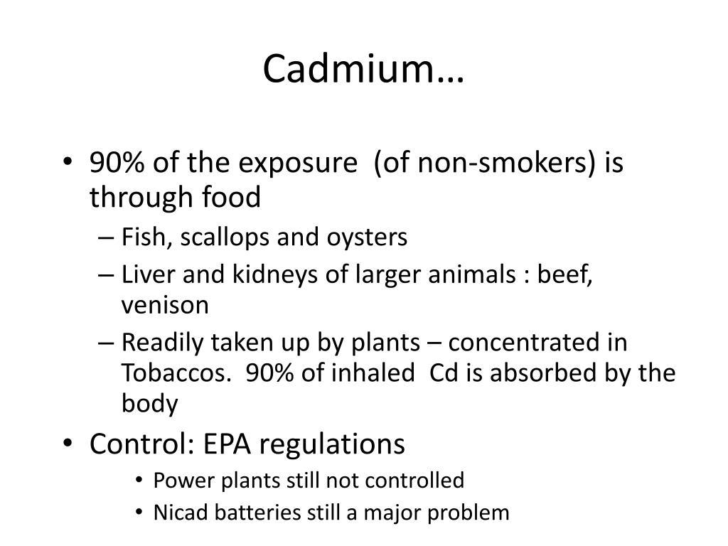 Cadmium…