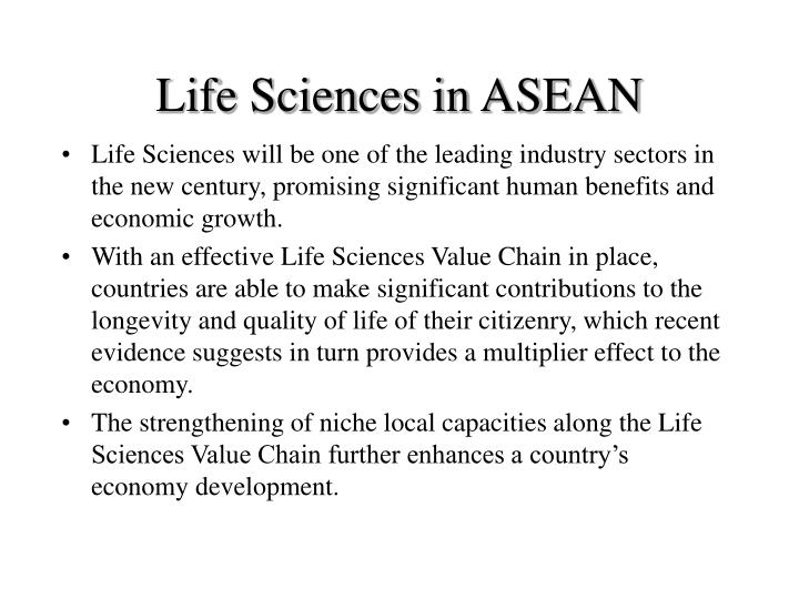Life sciences in asean