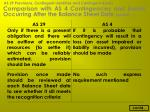 comparison with as 4 contingencies and events occurring after the balance sheet date contd