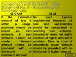 comparison with us gaap fasb statement no 5 accounting for contingencies