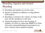 hoarding squalor and animal hoarding