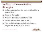 ineffective communication strategies