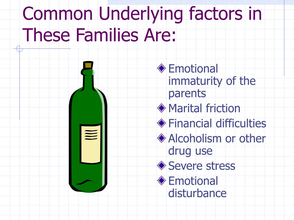 Common Underlying factors in These Families Are: