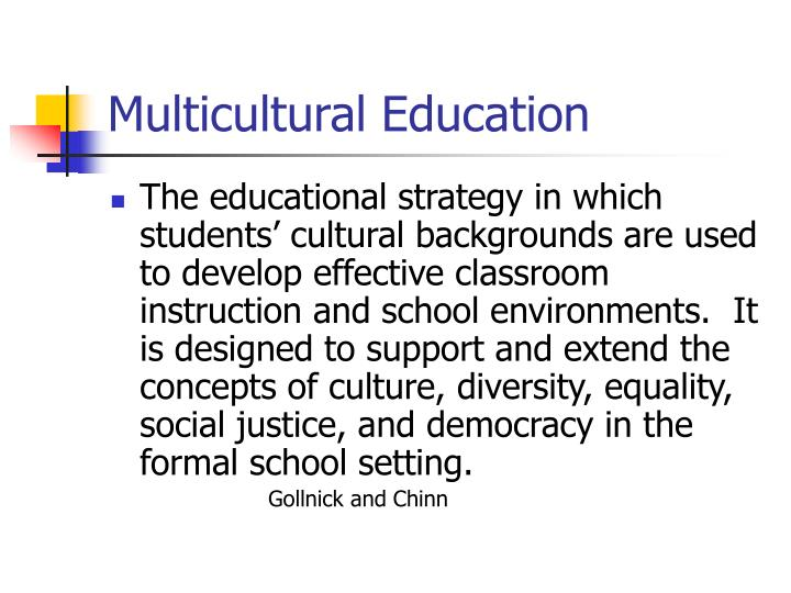 Ppt diversity and differentiation in the classroom chapter 2 multicultural education toneelgroepblik Choice Image