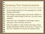 spanning tree implementation