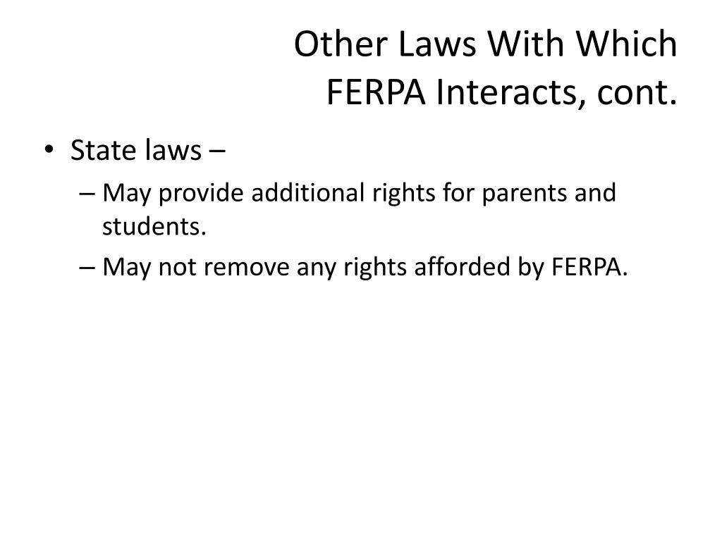 Other Laws With Which