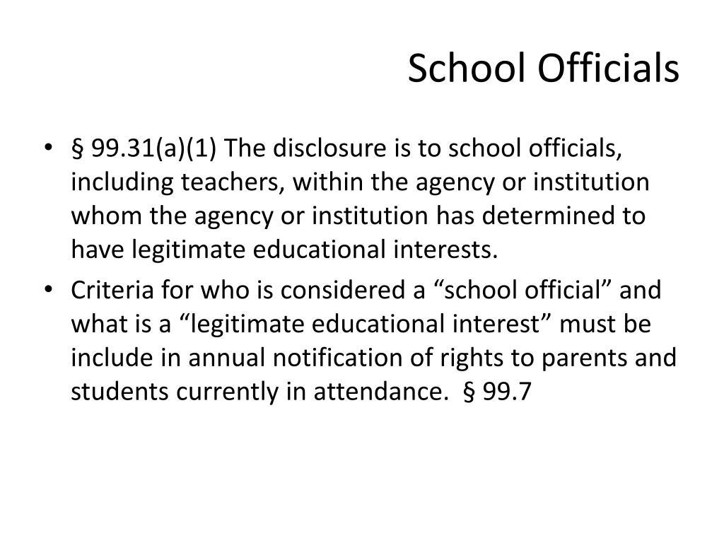 School Officials