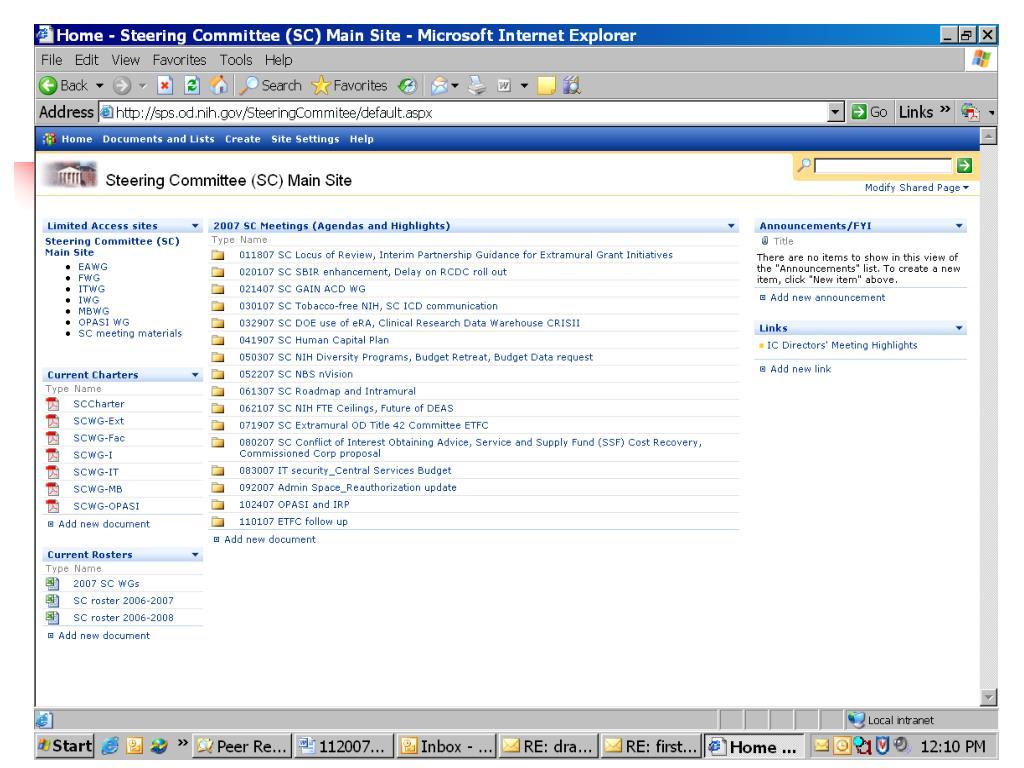 NIH Steering Committee