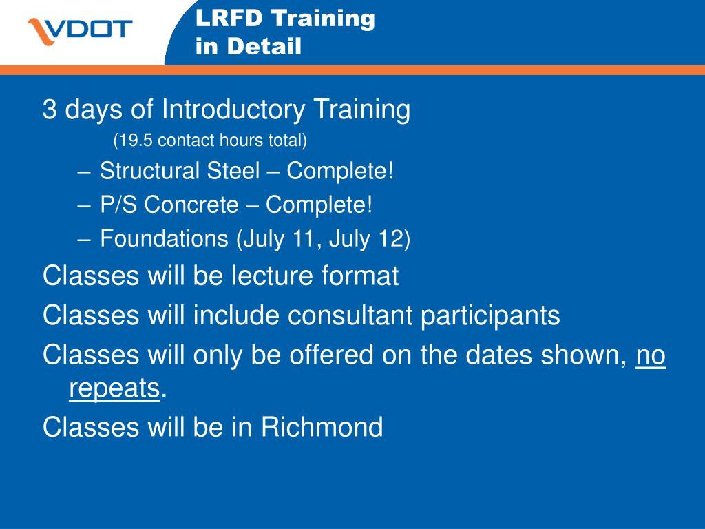 LRFD Training