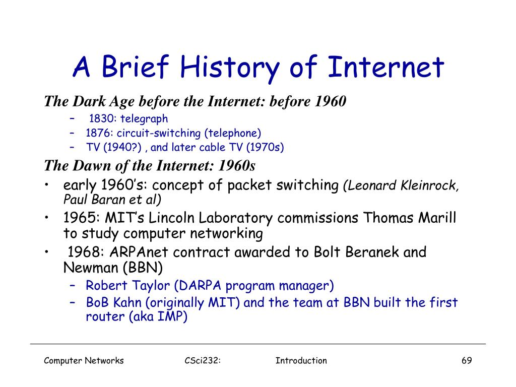 A Brief History of Internet