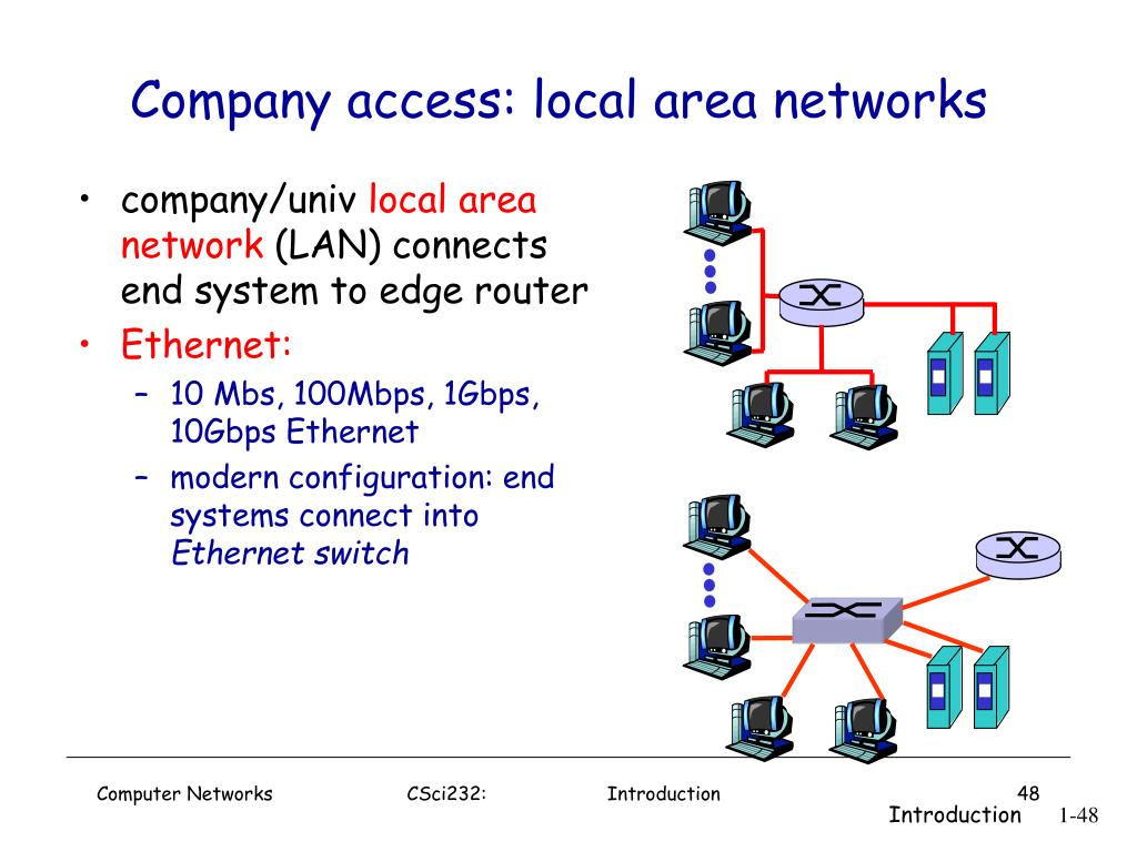 Company access: local area networks