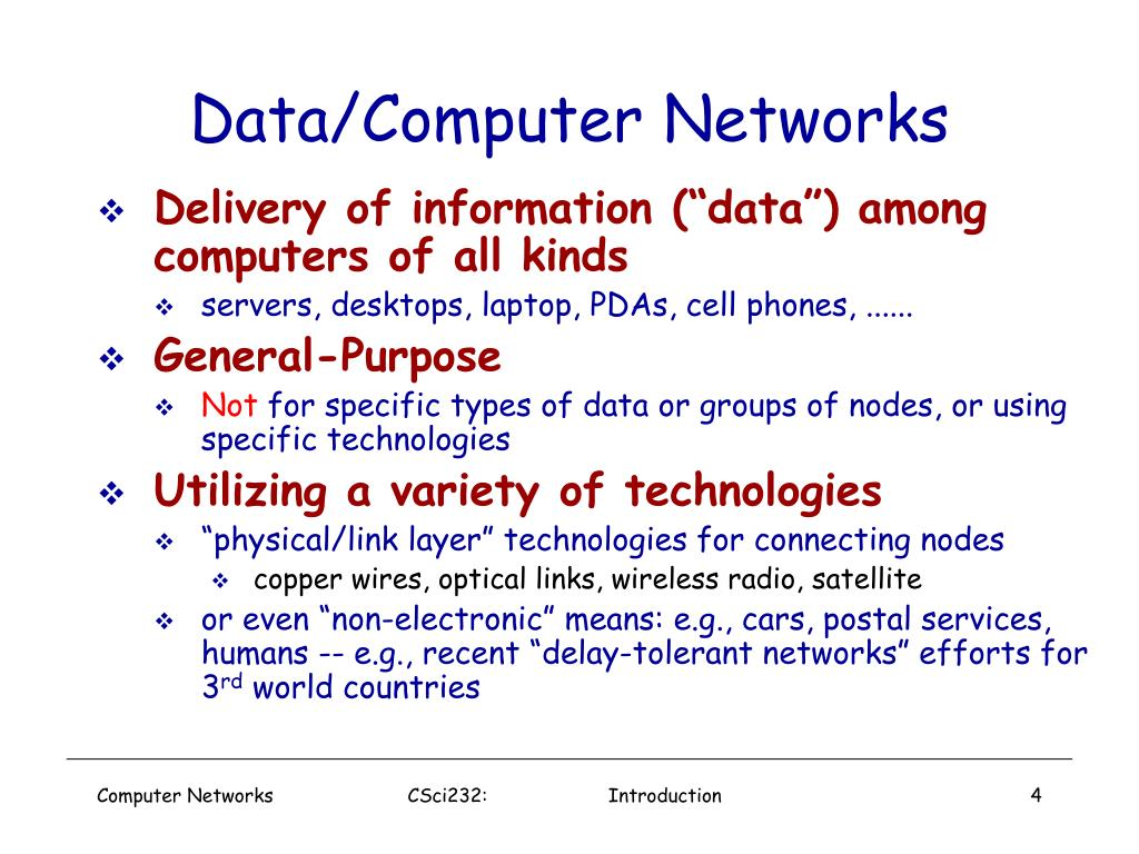 Data/Computer Networks