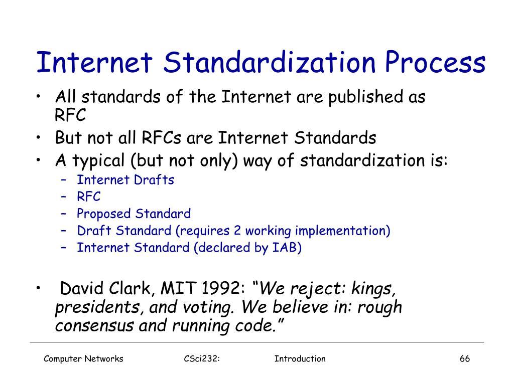 Internet Standardization Process
