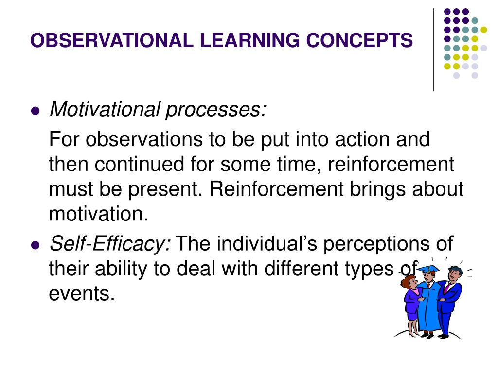 OBSERVATIONAL LEARNING CONCEPTS