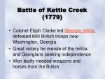battle of kettle creek 1779