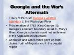 georgia and the war s aftermath