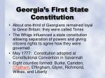 georgia s first state constitution