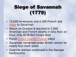 siege of savannah 1779