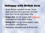 unhappy with british acts