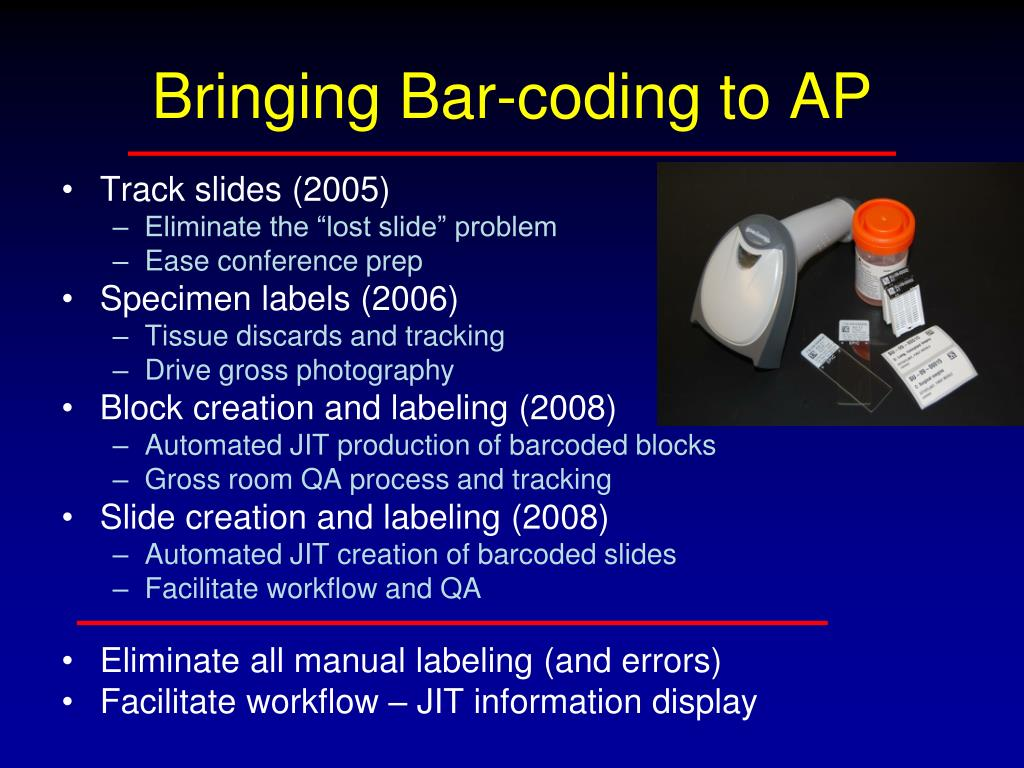 Bringing Bar-coding to AP