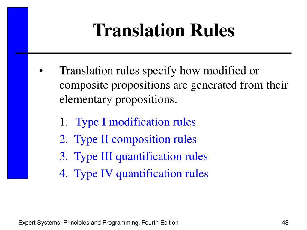 Translation Rules
