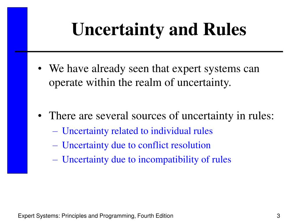 Uncertainty and Rules