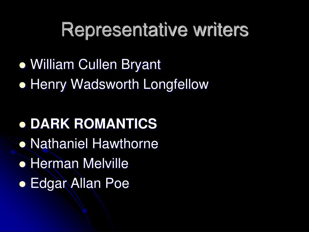 Representative writers