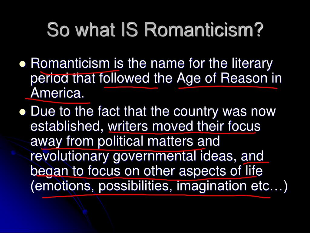 So what IS Romanticism?