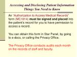accessing and disclosing patient information things you need to know