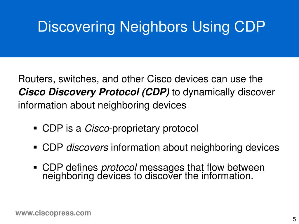 Discovering Neighbors Using CDP