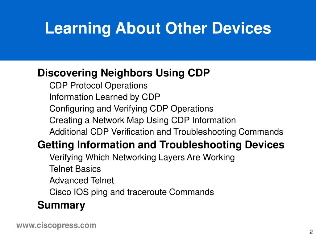 Learning About Other Devices