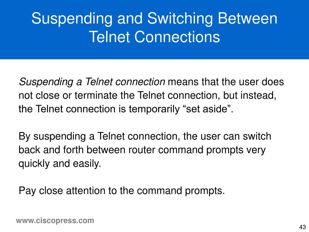 Suspending and Switching Between