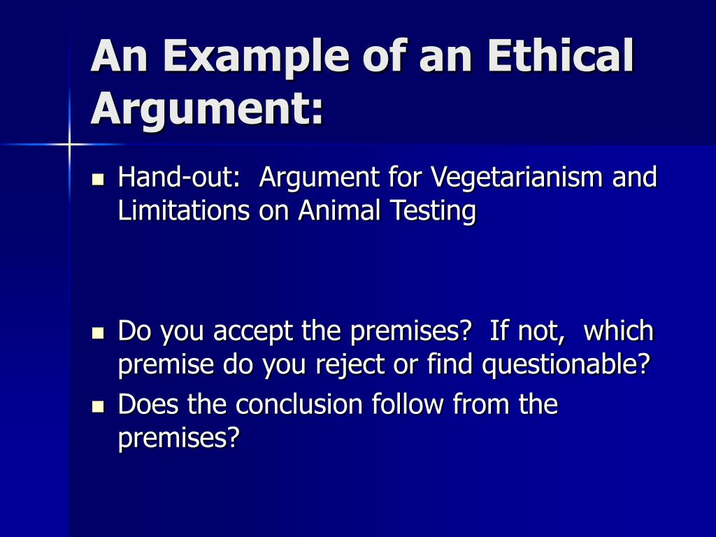 An Example of an Ethical Argument: