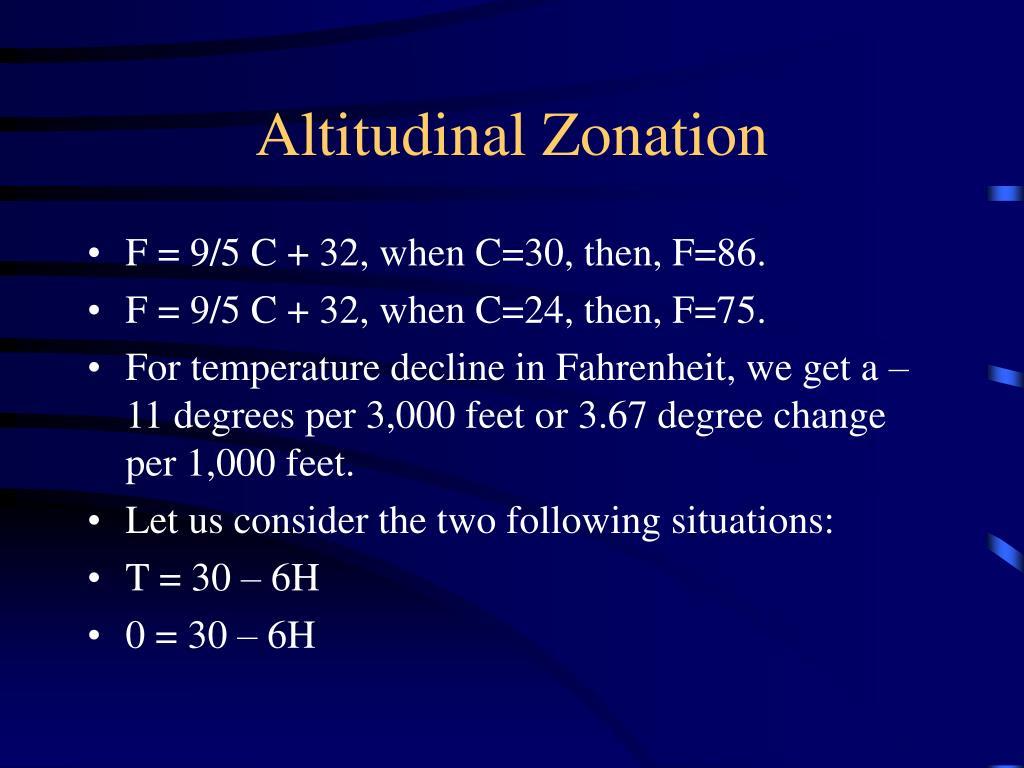 Altitudinal Zonation